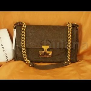 MARC JACOBS QUILTED LEATHER SHOULDER BAG NWT
